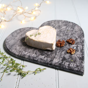 Personalised Marble Heart Board - cheese boards & knives