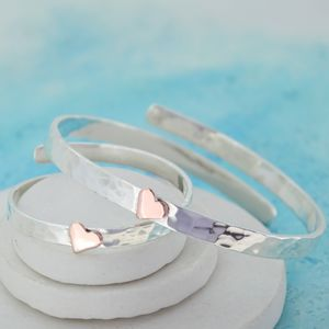 Mummy And Baby Personalised Bangles - bracelets & bangles