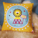 Children's Circus Lion Cushion