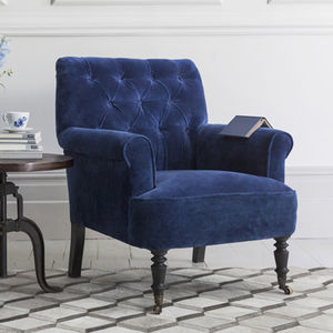 Pimlico Button Back Velvet Armchair