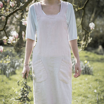Rose Linen Artisan Cross Over Apron