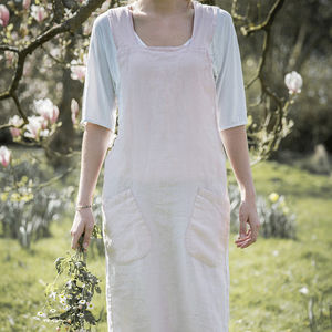 Rose Linen Artisan Cross Over Apron - kitchen