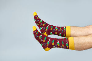 Men's Socks Mardi Gras Pattern