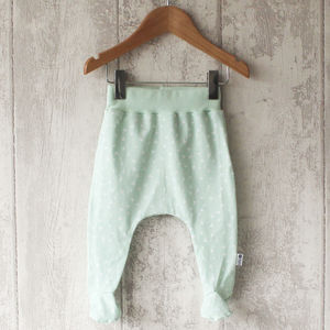 Mint Triangle Baby Footed Leggings