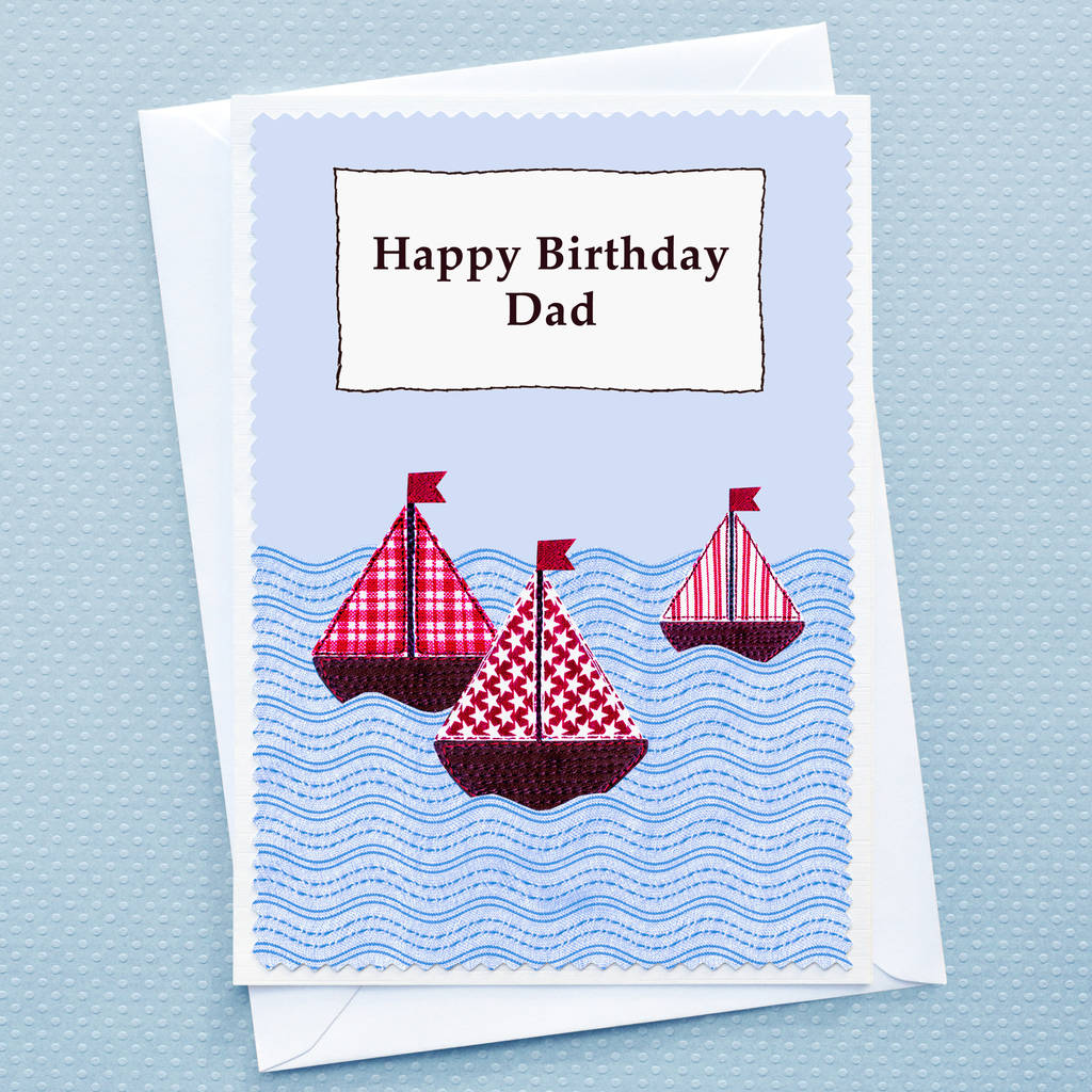 Boats Personalised Birthday Card