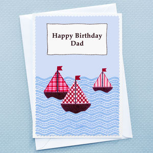 'Boats' Personalised Birthday Card