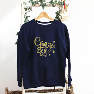 Ladies Christmas Jumper Gin Gle All The Way - christmas jumpers