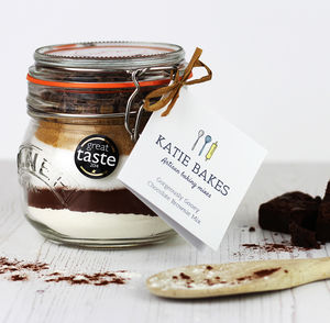 'Gorgeously Gooey' Chocolate Brownie Baking Mix Jar - baking