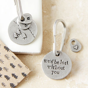 'Lost Without You' Keyring - wedding thank you gifts