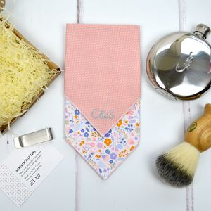 Mix And Match Personalised Handkerchief : Pink Floral - handkerchiefs