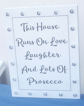 Prosecco LED Plaque