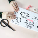 Personalised Bugger Off, Leaving Gift Wrapping Paper