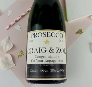 Personalised Champagne/Prosecco Label - table decorations