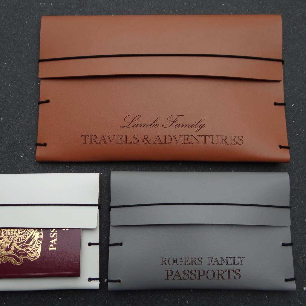 6fc2b16cf7ab personalised family leather travel wallet by artbox ...