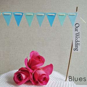 Cake Bunting With Greeting Label ~ Colour Options