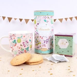 British Summer Fruit Tea Time Gift Set - biscuits and cookies
