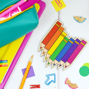 Rainbow Pencil Coaster