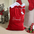Luxurious Plush Santa Sack