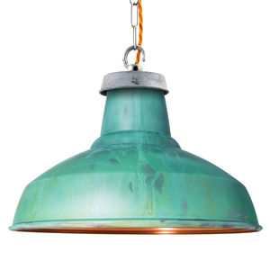 Verdigris Industrial Pendant Light - lighting