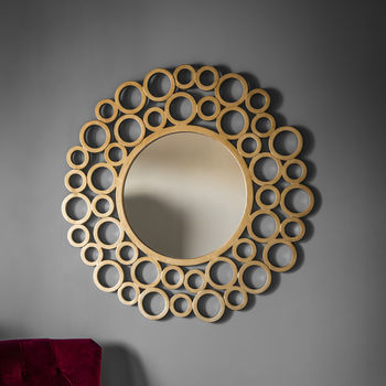 Gold Bubble Wall Mirror