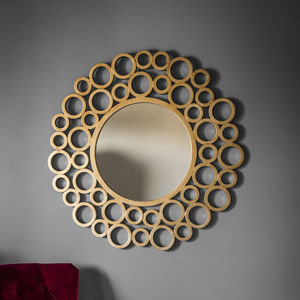 Gold Bubble Wall Mirror - mirrors