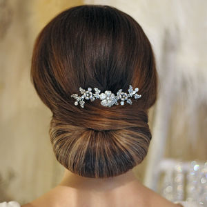 Clementine Silver Plated Wedding Comb - bridal hairpieces