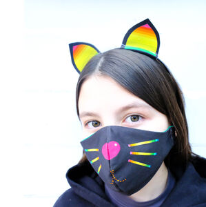 Cat Face Mask And Ears Set