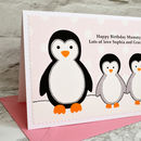 Personalised birthday card from two children or grandchildren