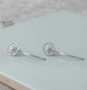 Zen Flower Earrings - earrings