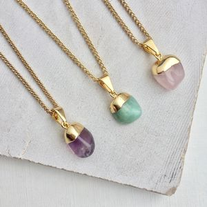 Mini Tumbled Crystal Pendant Necklace - necklaces & pendants