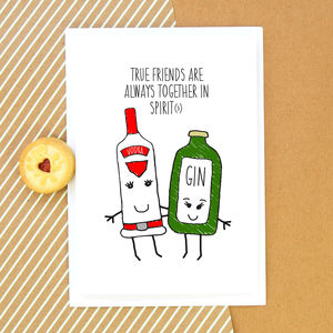 'Together In Spirits' Card For Friend - all purpose cards, postcards & notelets