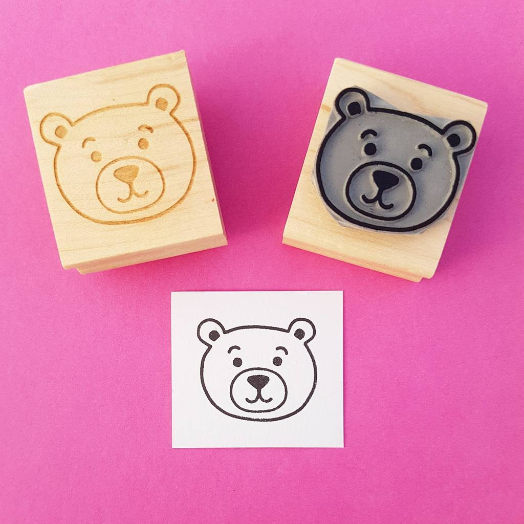 Teddy Bear Rubber Stamp By Skull And Cross Buns Rubber Stamps
