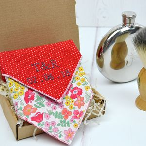 Mix And Match Personalised Handkerchief : Red Rose - handkerchiefs