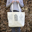 Cactus Design Canvas Tote Bag
