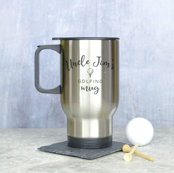Personalised Golf Travel Mug