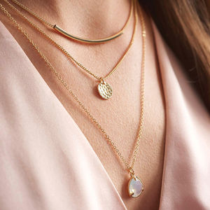 Gold Layered Necklace - women's jewellery