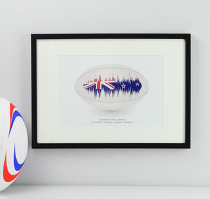 Personalised Rugby Song Sound Wave Print - music