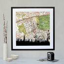 Personalised London Skyline Map