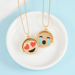 Reversible Emoji Necklace - gifts for friends