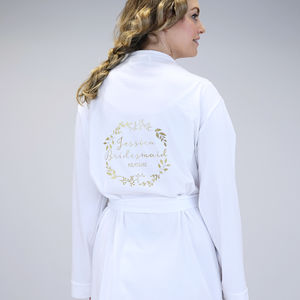 Personalised Botanical Wedding Dressing Gown - lingerie & nightwear