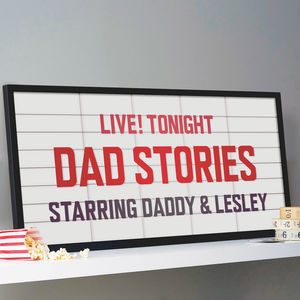 Personalised Cinema Marquee Sign Print - gifts for him