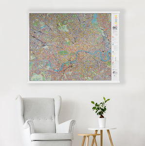 London Cycle Wall Map - i want to ride my bicycle
