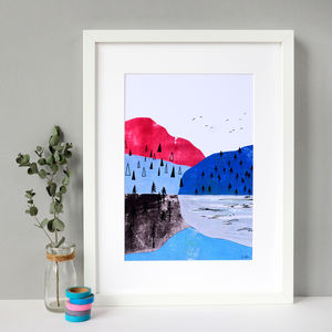 Mountains Collage Print - nature & landscape