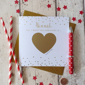 'All I Want For Christmas' Christmas Card - cards
