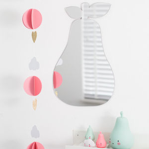 Pear Shaped Childrens Mirror With Changeable Faces - summer sale