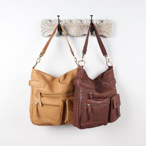 Brooke Leather Pocket Shoulder Bag
