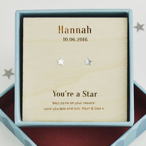 'Your'e A Star' Personalised Stud Earrings