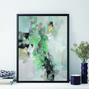 'Rosa Ellie' Framed Giclée Abstract Canvas Print Art - posters & prints