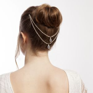 Something Blue Wedding Headpiece Hair Chain - bridal hairpieces