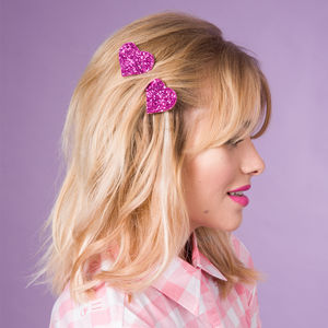 Heart Bobby Pins 30 Colours Available